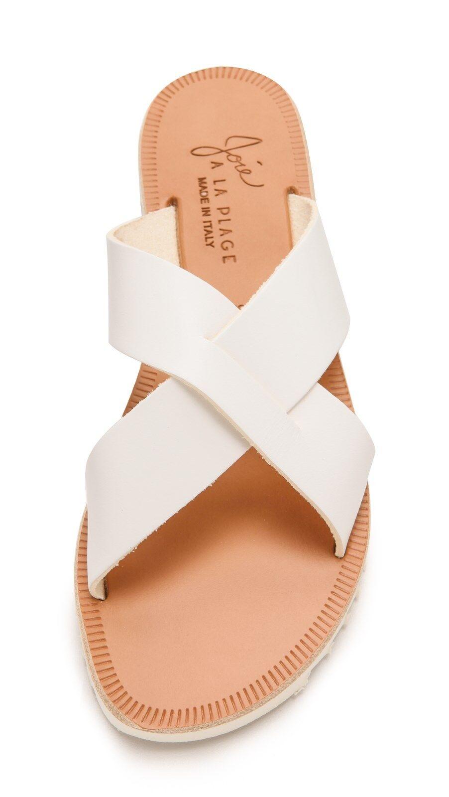 Joie a Leather la Plage San Remo Leather a Sandals, White SIZE 40 (sh) 9705d2