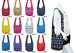 SALE-Thai-Hippie-Hobo-Sling-Shoulder-Crossbody-Bag-Purse-Elephant-Boho-Gypsy-Zip