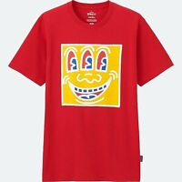 Keith Haring X Uniqlo '3-eyed Face / Who Are You?' Sprz Ny Art T-shirt S Red
