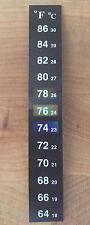 Dual Aquarium Fish Tank Thermometer Temperature Sticker Stick-on Fahrenheit °F