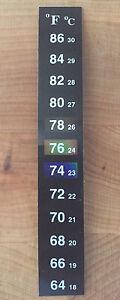 100-X-Dual-Aquarium-Fish-Tank-Thermometer-Temperature-Stickers-Fahrenheit-F