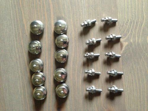 10 Knöpfe Lot 10 Schraube mit Muttern Øm5 X 16 mm Tenax Loxx Edelstahl