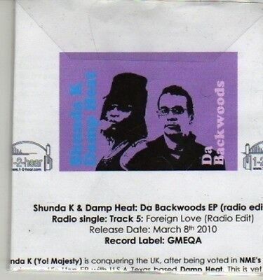 (AQ872) Shunda K & Damp Heat, Da Backwoods EP - DJ CD