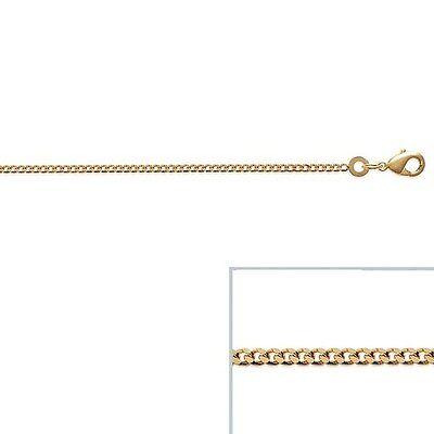 Catena Placcato Oro 18 Carati A Maglie A Catena Medio 55 Cm 1,8 Mm Nuovo Excellent Quality Fine Necklaces & Pendants
