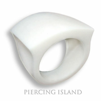 Ring Bone natural carved jewelry organic super  AR26 rings unique classy white