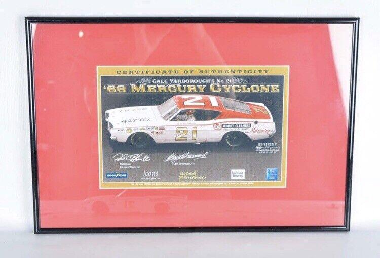 Autographed 1968 Cale Yarbgoldugh Mercury Cyclone Cyclone Cyclone 1 24 With COA Framed NIB 1fcf00