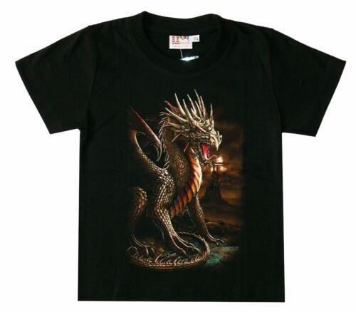 92*98,110*116,122*128,134*140,146*152 FANTASY misticismo Bambini T-shirt DRAGO TG
