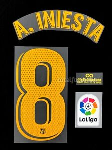 Barcelona-2018-19-Iniesta-Infinit-Ful-Set-name-set-number-Player-Issue-Avery