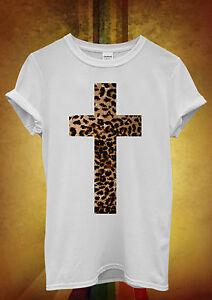 Leopard-Cross-Religion-Cool-Hipster-Men-Women-Unisex-T-Shirt-Tank-Top-Vest-462