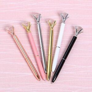 Carat-Diamond-Metal-Pens-Crystal-Ballpoint-Pen-Novelty-Escolar-Bolis-CN