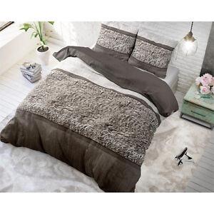 Bettwäsche Mit Aufdruck Warme Haut Grau 200 X 200 3 Tlg Ebay