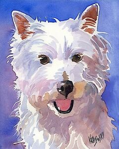 West Highland White Terrier 11x14 signed art PRINT painting