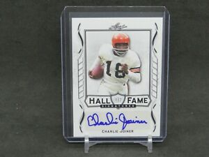 2021 LEAF SIGNATURE SERIES CHARLIE JOINER HALL OF FAME AUTO BROWNS DLNH