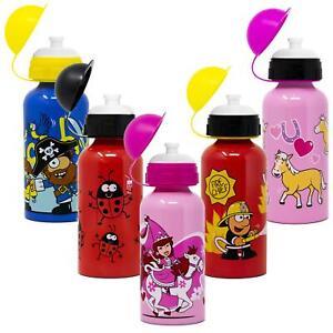 Kids-Aluminium-boissons-Bouteille-400-Ml-ENFANT-EAU-BALLON-garcons-filles-ecole-dejeuner