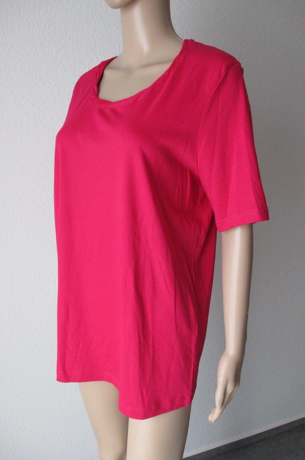 Efixelle Rundhals-Shirt mit Kurzarm, in der Farbe rot, Größe 48