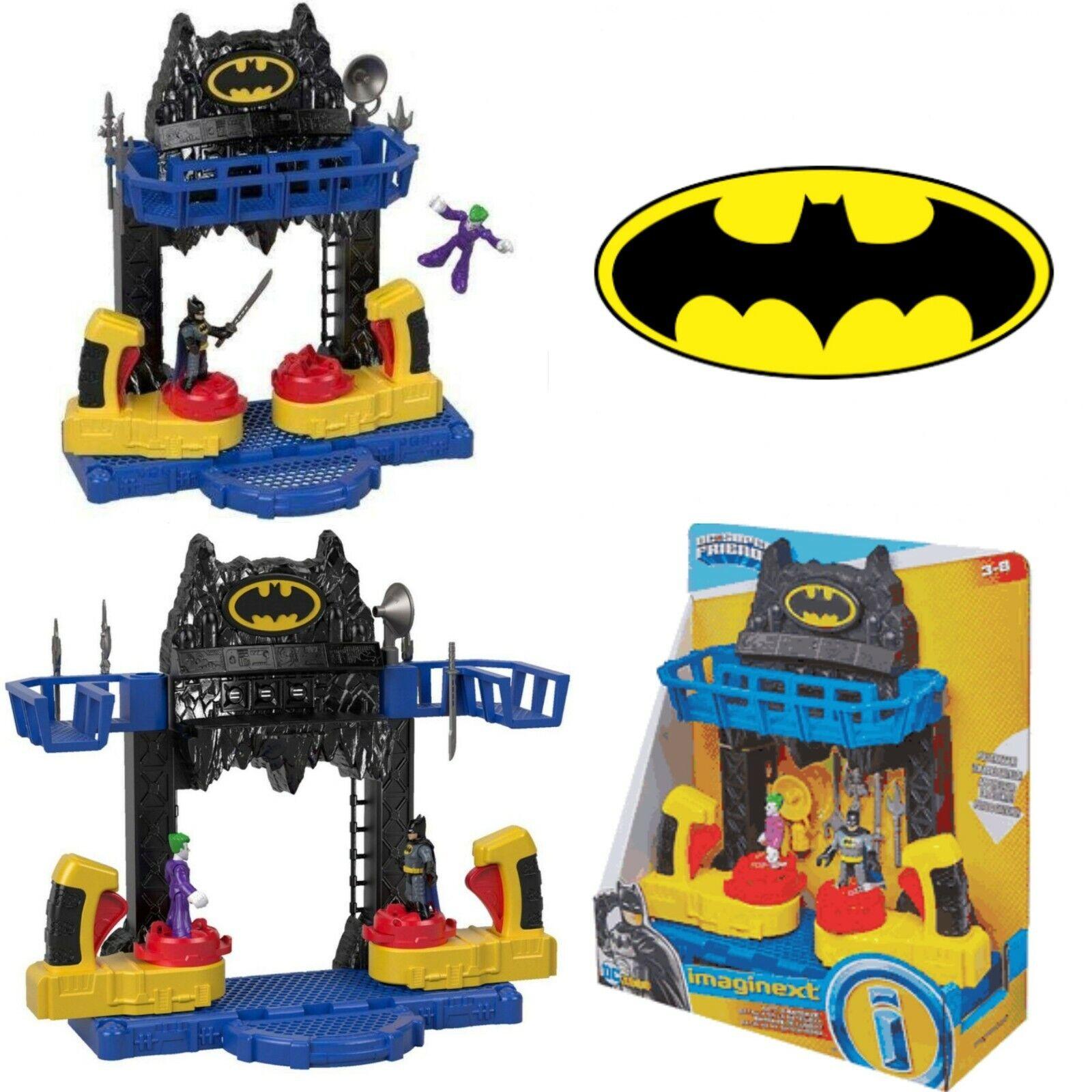 Imaginext FKW12 BATTAGLIA Bat-Caverna con figure di Batman Joker +4 pezzi aggiuntivi