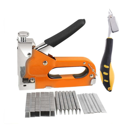 Heavy Duty Staple Gun Kit, includes Staple Gun, 600 Staples and Staple Remover