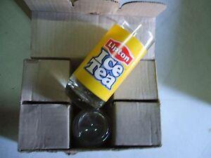 6-Bicchieri-LIPTON-ICE-TEA-Nuovi-logo-colorato-Bar-Pub-VINTAGE