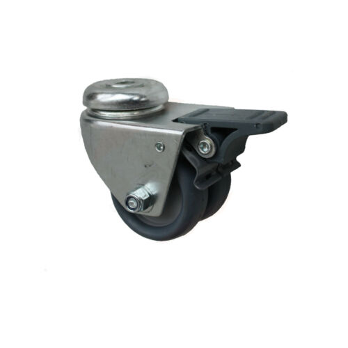 Set 50 mm Apparaterollen 2+2 Doppelrollen Lenkrollen Rückenlochbefestigung A1