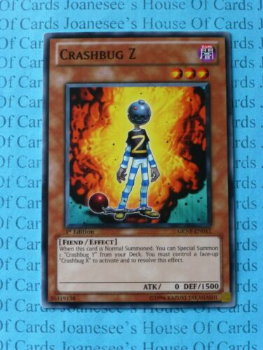 Details about  /Crashbug Z GENF-EN011 Common Yu-Gi-Oh Card 1st Edition New