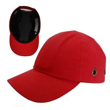 Red Baseball Bump Caps - Lightweight Safety hard hat - head protection Caps