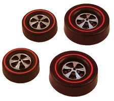 4 Brightvision Redline Wheels – 2 Lg & 2 Med Cap Deep Dish Bright Chrome Style