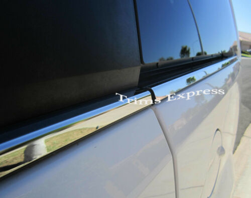 2004-2010 Toyota Sienna 4Pc Window Sill Trim Overlay Chrome Stainless Steel