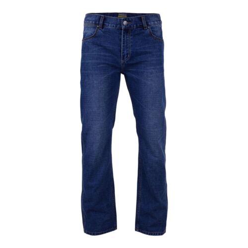 """Kam Vestibilità Comoda Scuro Stone Jeans Stretch (occidentale), misura del girovita 40-60 """" & L30 / 32 / 34"""