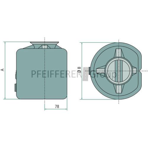 Chapel mano bombas tanque plástico 2 litros V-nº 0