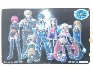 RARE-2003-Tri-Ace-STAR-OCEAN-Till-the-End-of-Time-Phone-card-Japan-GAME-764