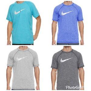 032479d81 NWT Men's Nike Dri-FIT Heathered Hydroguard Swim Shirt Tee | eBay