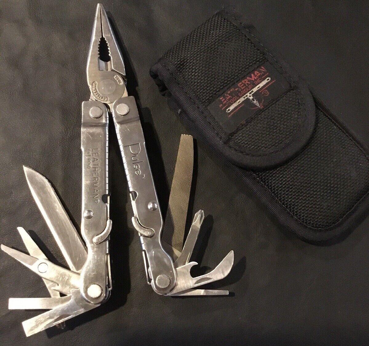 Retirerade Leatherman Pulse Multi Tool, W  Sheath, Engraved {65533;65533;, NTG 65533;,,,\95533;95533;;; 0603) (1003)