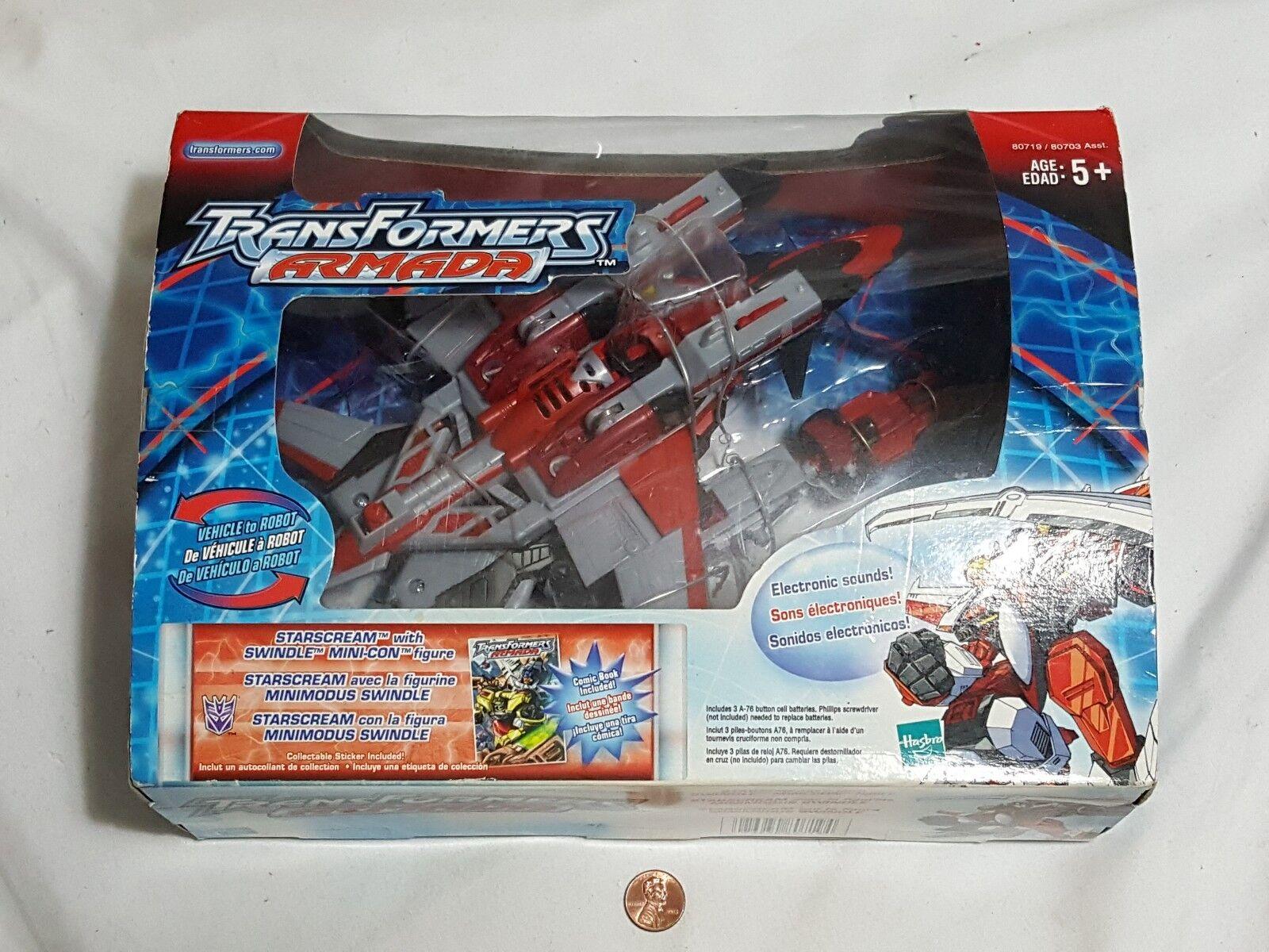 NEW Transformers Armada Starscream with Swindle Mini-con Action Figure SEALED
