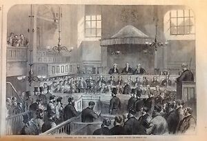 IRELAND-Fenian-Prisoners-at-Special-Commission-Court-DUBLIN-Antique-Print-1867