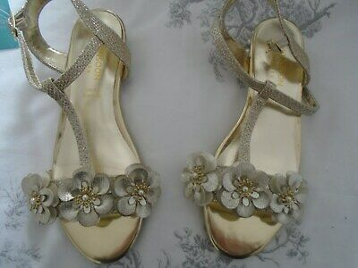 Clothes, Shoes & Accessories Sunny Brand New Monsson Girls Gold Sandals Size 12