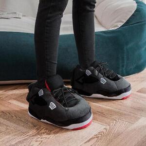 Air J's 4 BRED Plush Sneaker Slippers