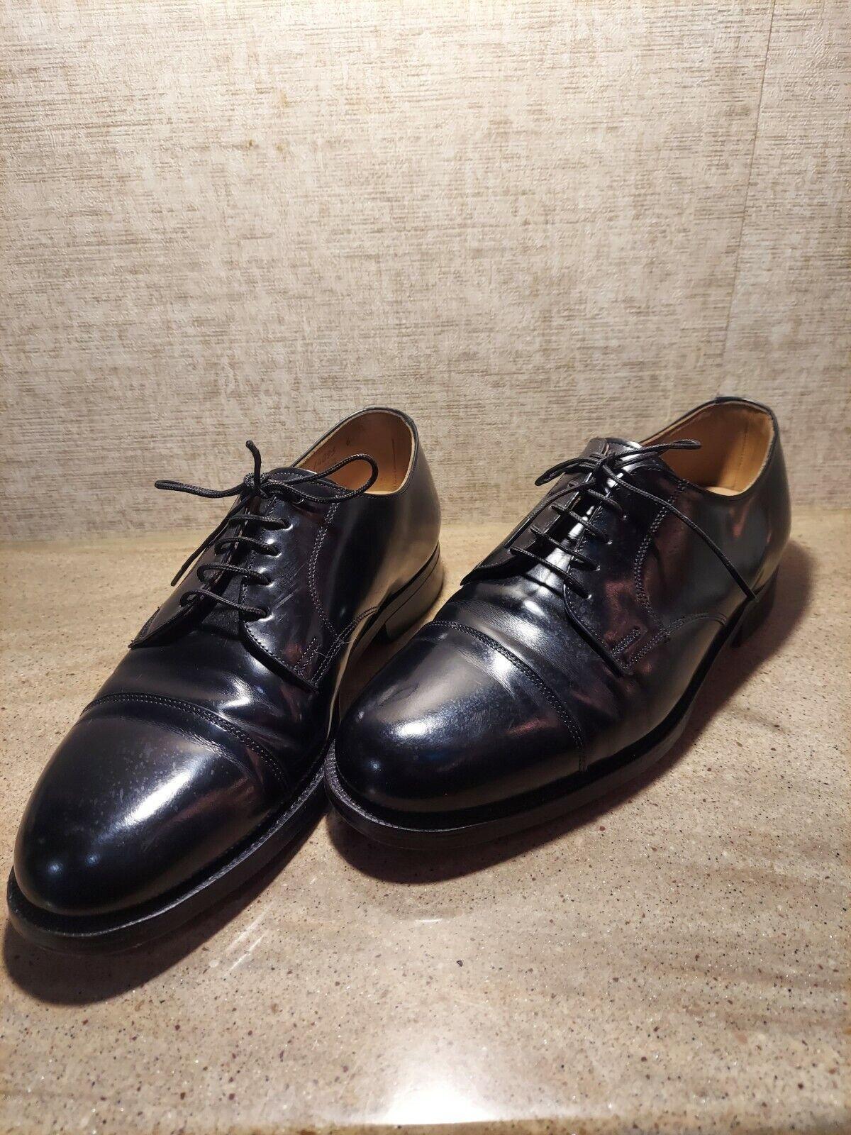 Johnston & Murphy Black Leather Cap Toe Oxfords Optiflex Men's Size 8.5 D