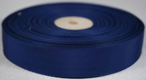 navy blue 33m double sided grosgrain grograin petersham ribbon roll 23mm 7//8