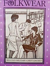 Vintage Folkwear Unisex BELGIAN MILITARY CHEF'S JACKET Sewing Pattern 133