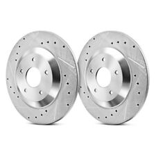 Power Stop EBR1006XPR Drilled /& Slotted Rear Rotor Set for 05-09 Audi A4