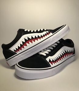 0b02ce433a7956 Image is loading Vans-Custom-Old-Skool-Vans-Bape-Shark-Teeth-