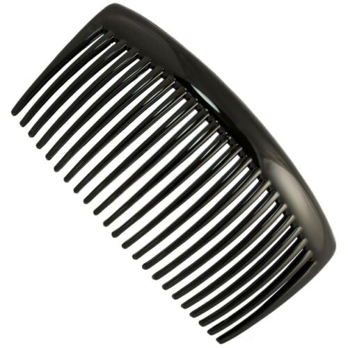 French Side Hair Comb 10cm Slide Grip Made in France Brown//Black