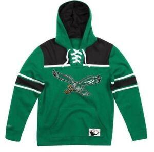 new arrival 345c3 dbf36 Details about NEW Philadelphia Eagles Mitchell & Ness NFL Hockey Fleece  Hoodie