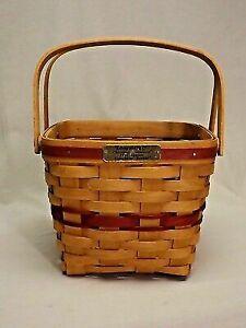Longaberger Christmas Basket.Longaberger Christmas Basket 1995 Cranberry Basket