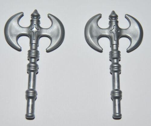 25570 Hacha doble plata 2u playmobil,axe,medieval,vikingo,viking