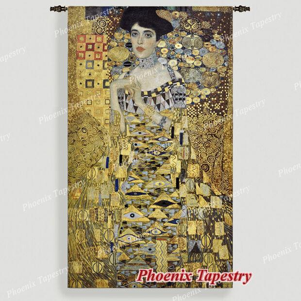 140 x 242cm Wandbehang Wandteppich  Portait Adele Bloch-Bauer I  - Gustav Klimt