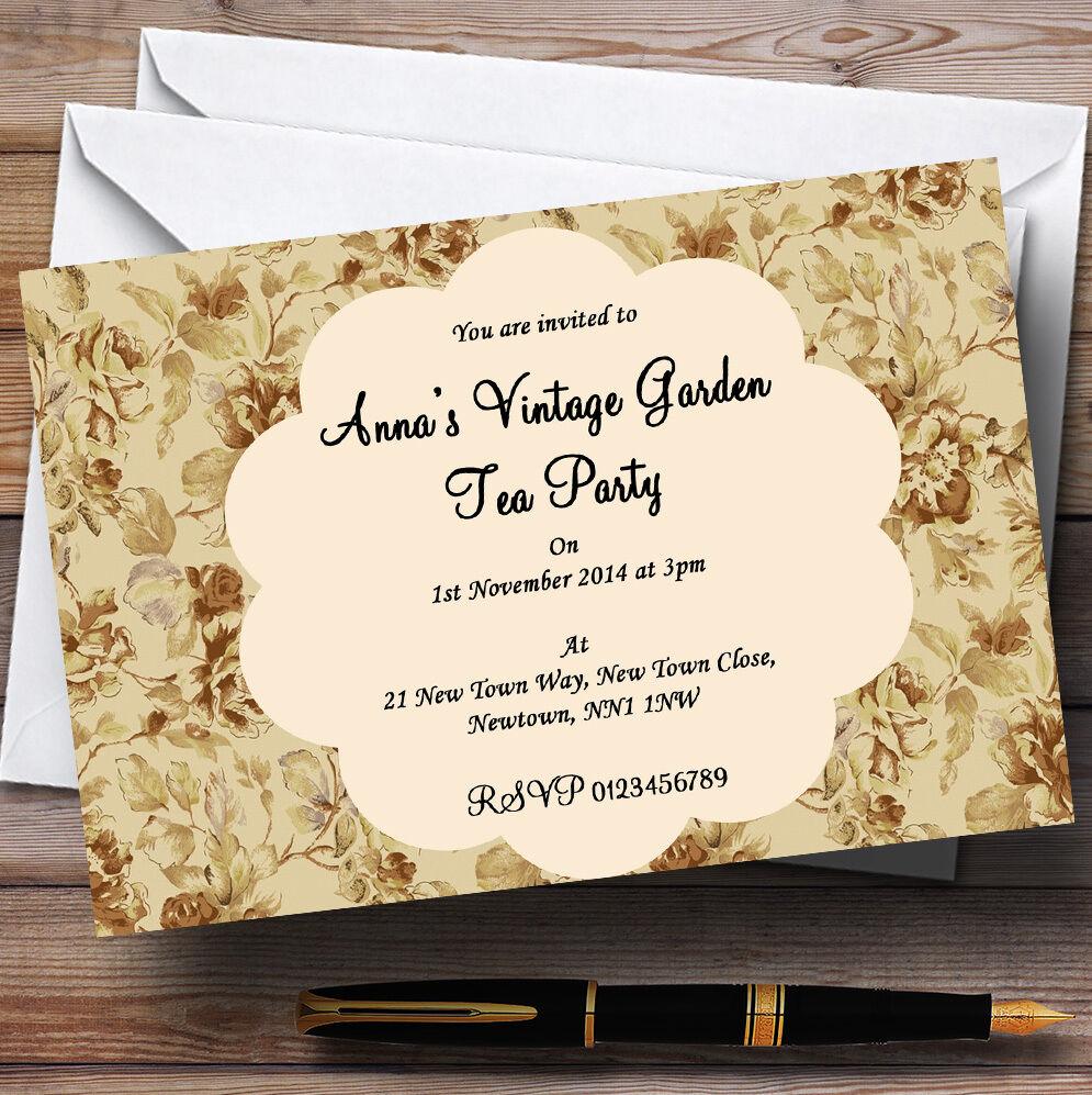 VINTAGE VINTAGE VINTAGE Garden Tea Party Personalizzati Festa Gare be4d98