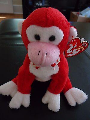 MWMT Ty Beanie Baby Valentine Valentines Monkey 2003