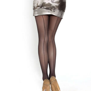 f527892efa54e Image is loading Sexy-Women-Tights-Back-Stripe-Temptation-Sheer-Smooth-