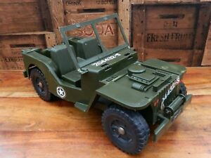 Vintage-Action-Man-Jeep-Militar-falta-Bonnet